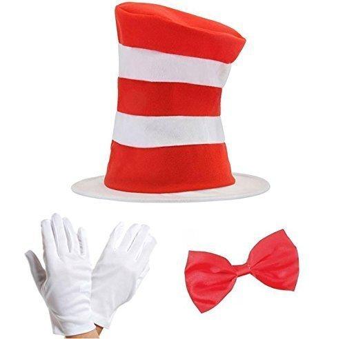 Kind  Katze-im-Hut-Set mit Fliege und Handschuhen und (Im Kinder Kostüm Katze Für Die Hut)