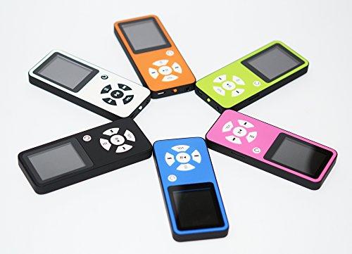 BERTRONIC ® MP3-Player Everest Royal – Blau – Musik/Video Player – 100 Stunden Audiowiedergabe, Metallgehäuse, Lautsprecher – Speicher bis zu 128 GB durch microSD + 4 GB Speicherkarte - 6