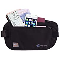 Money Belt [with RFID Protection] – Ideal for travel – Keep your valuables safe with this comfortable breathable travel money belt!