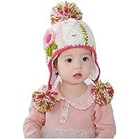 Ahatech Baby Bambine Paraorecchie?Cappello Berretto Sciarpa del Bambino di Lana