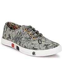 BADLAV Men's Men Multicolor Casual Sneakers (Grey)