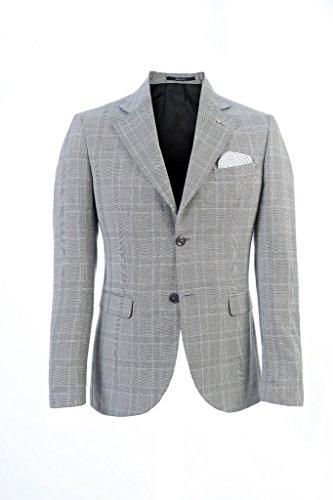 Vincent Trade - Abito Uomo, Giacca 2 bottoni e pantalone tasca alla americana vestibilità slim Grigio