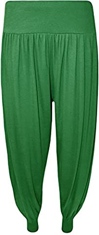 Ladies Plus Size Harem Trousers Womens Full Leggings Stretch Pants