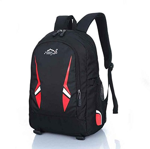 BM Outdoor Zaini per uomini e donne sport tempo libero borsa scuola borse borse a tracolla , blue Red