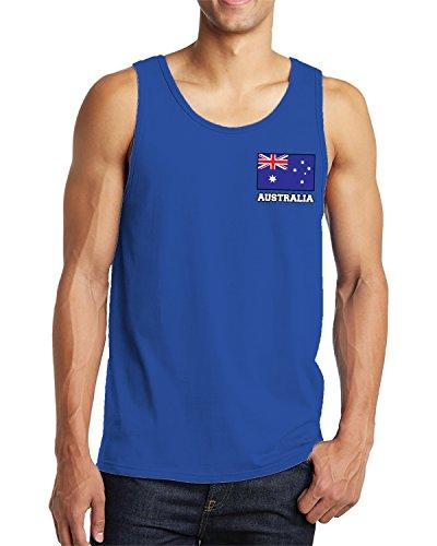 SpiritForged Apparel Herren Tank Top Australia Chest Flag - Blau - XX-Large