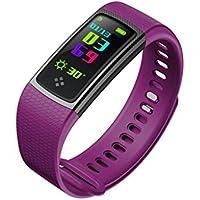 JMung'S Bracelet De Rythme Cardiaque Intelligent MatéRiau Acier Inoxydable TPU KiloméTrage,Calories ConsomméEs,Surveillance Du Sommeil,Convient Pour Android Et iOS