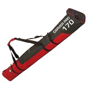 170cm Skibag ProCarver red/black org. BRUBAKER padded ski bag with zip fastening