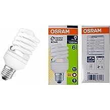 OSRAM - Bombilla bajo consumo mini espiral 20W=87 E27 luz cálida 6.000 horas