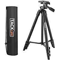 "Tripod, 140cm (55"") Tacklife MLT01 Camera Tripod, Lightweight Aluminum Travel Tripod with Longer Height and Carry Bag"