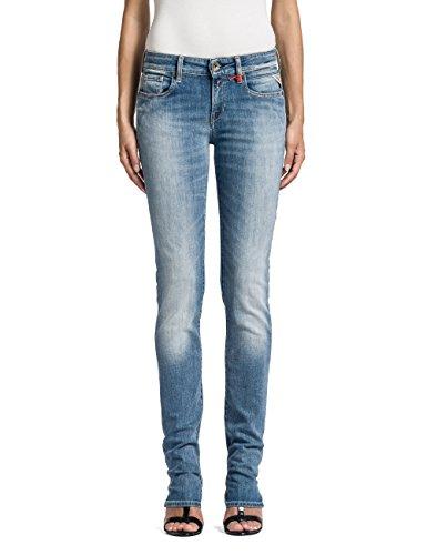 Replay Damen Straight Leg Jeanshose Vicki, Gr. W32/L32 (Herstellergröße: 32), Blau (Blue Denim 10)