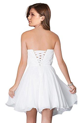 Milano Bride Damen Liebling Chiffon Herzform Kurze Abendkleid Heimkehrkleider Abschlusskleid Strass Pailette Navy Blau