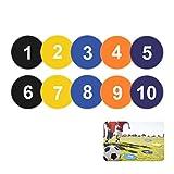 Flat Spot pennarelli per Basket Calcio Trapani e Allenamento agilità, velocità Starter,, Pack of 10, 1-10 Numbers