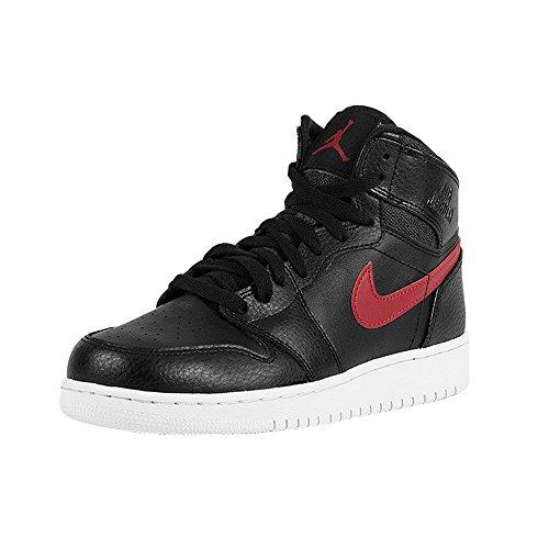 Nike Jungen Air Jordan 1 Retro High BG Basketball Turnschuhe, Mehrfarbig (Black 001), 35 1/2 EU