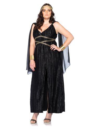 Göttin Übergröße Kostüm - Leg Avenue 85180X - Dark Goddess Kostüm, Übergröße 44, schwarz
