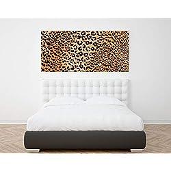 Wayshop | Cuadro XXL PVC 5 mm | Cuadro Gran Formato Leopardo | Ideal Dormitorios | Medidas Cama | Diseño Elegante | Medidas 150 cm x 60 cm (1 Unidad)