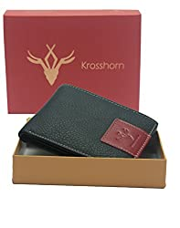 Krosshorn Black Leather Wallet for Men