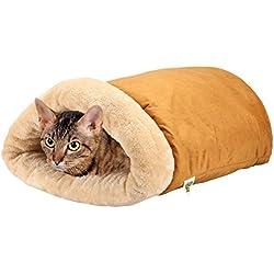 Pet Magasin - Cama iglú para gatos Un saco acogedor [Extra Cómodo y Suave] para Gatos, Cachorros y Otros Animales Pequeños.