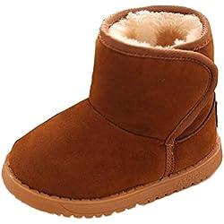 Culater® Inverno del bambino del bambino cotone stile stivali da neve caldo (21, Marrone)