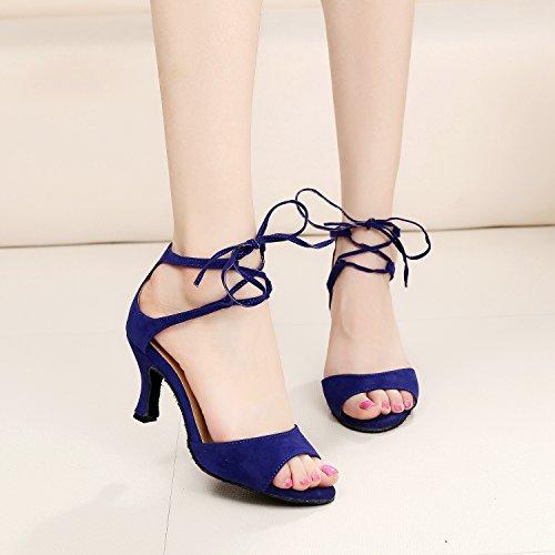 Minitoo , Salle de bal femme Blue-7.5cm Heel