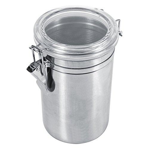 Fdit 4Größen Edelstahl Kitchen Food Container Flasche Messbecher Zucker Tee Kaffee Bohnen Kanister Set, xl -