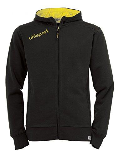 Uhlsport ESSENTIAL-Giacca con cappuccio, Unisex, Kapuzenjacke Essential, nero/giallo mais, XXXL