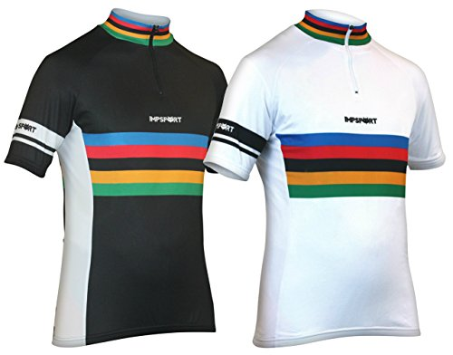 Impsport Cycling Masters Performance Black / White Cycle Jersey Mens & Womens Sizes
