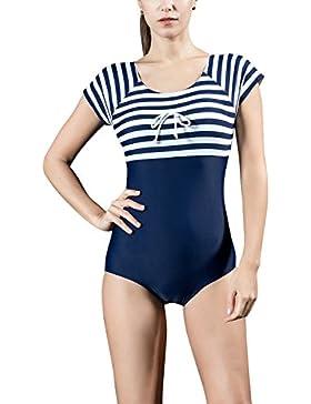 Dolamen Mujer trajes de baño, Bañador Deportivo Traje de Baño de Una Pieza Bañador de natación Bikini Para Mujer...