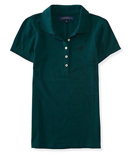 Aeropostale Women's Polo Shirt Small Dark Green w Navy 381 (Polo-shirts Aeropostale)