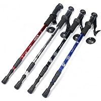 Di alta qualità, 3-section-Bastoncini da Trekking, regolabile a compasso-Bastoncini da Trekking, colore: