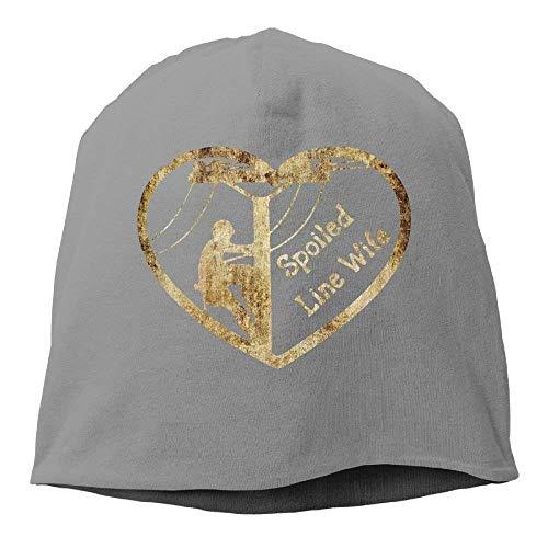 Rundafuwu Baseballmützen/Hat Trucker Cap Spoiled Lineman Wife Beanie Hats Knit Skull Caps Beanies for Men Women Black