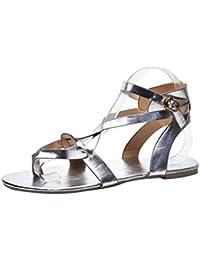 Angelof Sandales Sandales Femmes, Compensees Femme Plates Sandales Croix  Corde Ete Sandales Grande Taille Chaussure 4f6f0b086e0