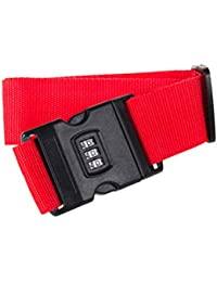 Vosarea Luggage Straps Adjustable Safety Travel Bag Accessories With Combination Lock - B07GZKTCRN