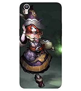 Cartoon, Blue, Cartoon and Animation, Printed Designer Back Case Cover for OPPO R9s