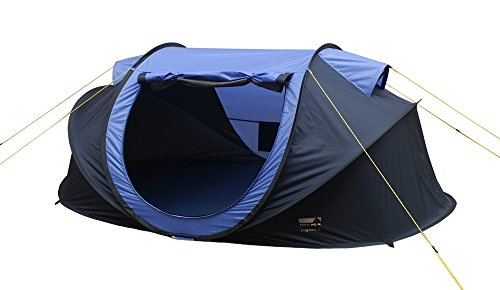 High Peak Trigoso 2 Personen Zelt Pop Up Wurfzelt blau