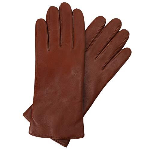 Damen Lammfell Leder Handschuhe Winter Warm Langes Fleecefutter Handschuhe