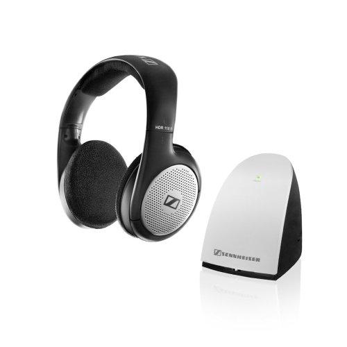 Sennheiser RS110II RF Wireless On-Ear-Kopfhörer mit UK/Irland Netzteil (Wireless-tv-kopfhörer Set)