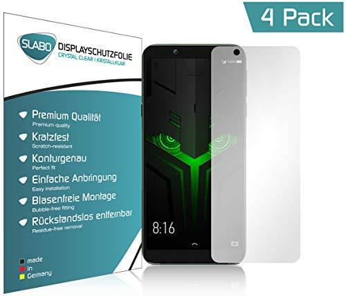 Slabo 4 x Bildschirmschutzfolie für Xiaomi Black Shark 2 Helo Bildschirmfolie Schutzfolie Folie Zubehör Crystal Clear KLAR