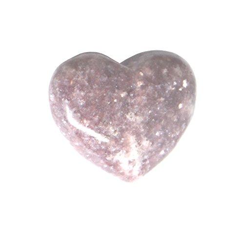 Lepidolite 3 cm, a forma di cuore, pietra &-Borsa regalo in Organza incluso - Bag Obsidian