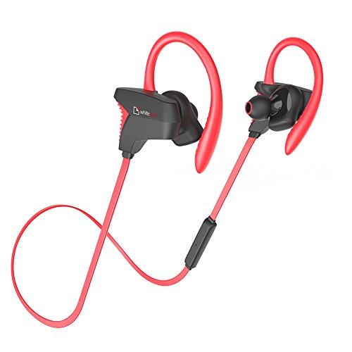 Auricolari bluetooth, whitelabel k100 cuffie wireless stereo sport a prova di sudore, con microfono incorporato per iphone,samsung,tablet,mp3,ecc (rosso)