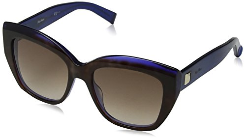 Max mara mm prism i js u9c 53, occhiali da sole donna, blu (hvnvlt bluette/brown sf)