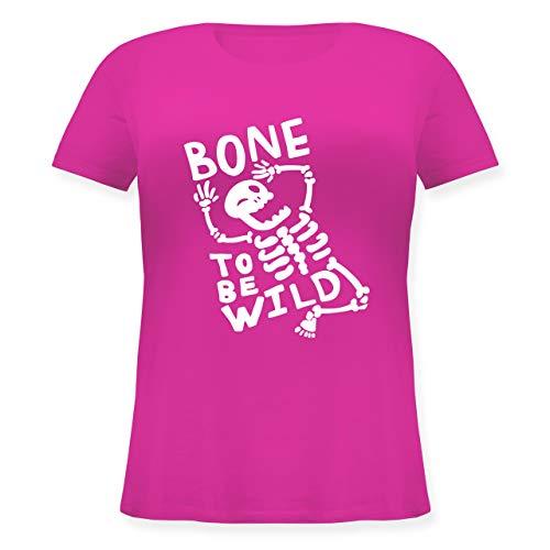 Halloween - Bone to me Wild Halloween Kostüm - L (48) - Fuchsia - JHK601 - Lockeres Damen-Shirt in großen Größen mit Rundhalsausschnitt