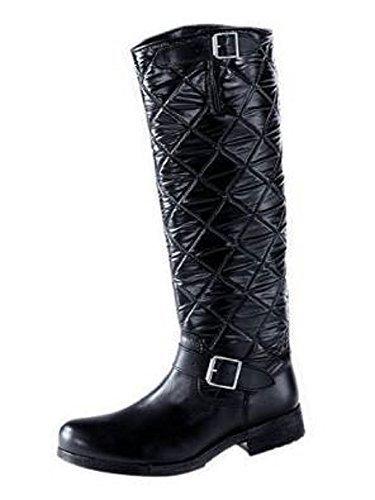 Bottes Pour Femme en cuir en noir Noir