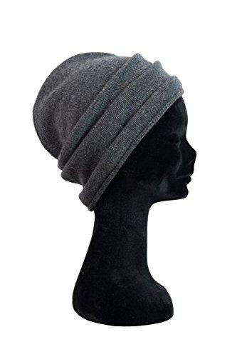 Caputo hi-line berretto barcis unisex 2 fili 100% puro cachemire cashmere   griglio melange   taglia unica - possibile abbinamento con sciarpa piancavallo e/o girocollo aviano