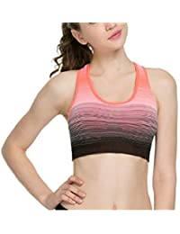 5e223e2025 Ritu Creation Women s Padded Full Coverage Quick Dry Padded Racer Back  Striped Sports Bra with Removable