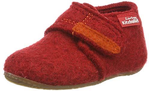 Living Kitzbuhel Unisex Baby Babyklettschuh Lauflernschuhe, Rot (rot 350), 27 EU