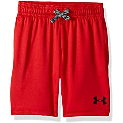 Under Armour Boys' UA Prototype Word Mark Short, Red/Black, Youth Large