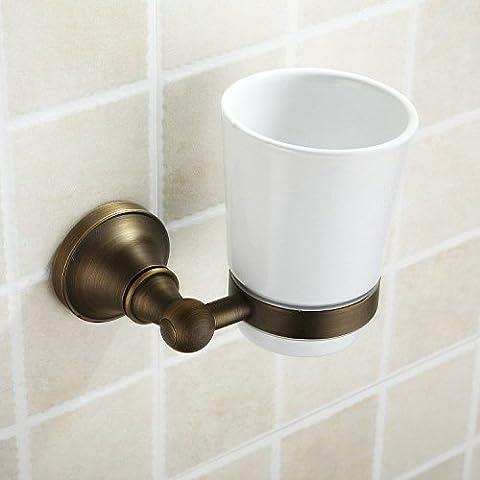 QUEEN'S Accessori per il bagno bronzo vetro antico titolari dello spazzolino da denti - Titolare Coccinella Spazzolino