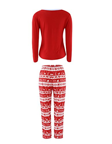ARESHION -  Pigiama due pezzi  - relaxed - A righe - Maniche lunghe  - Donna Mom Red