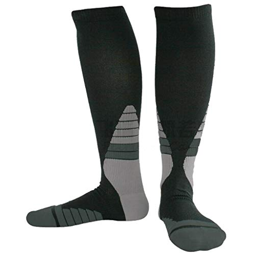 HCZ Druckstrümpfe, Fascia, Copper Fibre Movement Compression Socks (3 Paar) (Color : Gray, Size : L) -