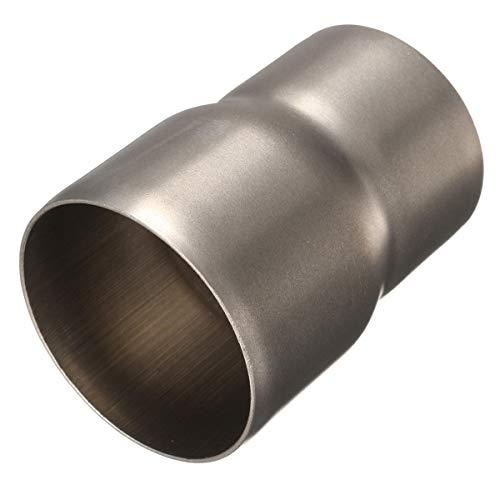 60 mm bis 51 mm Motorrad Baustahl-Auspuff-Adapter Reduzierstück Verbindungsrohr Rohr Rohr -